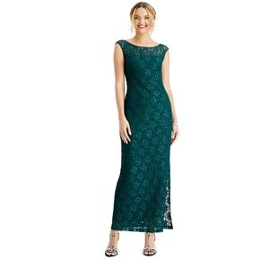 Connected Apparel Sequence Lace Maxi Tank Dress
